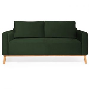 Canapea cu 3 locuri Vivonita Milton Trend, verde inchis