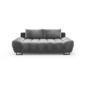 Canapea extensibila cu invelis de catifea cu 3 locuri Windsor & Co Sofas Cirrus, gri