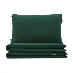 Lenjerie de pat din bumbac Mumla Green, 200 x 200 cm, verde inchis