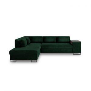 Canapea extensibila cu sezlong pe partea stanga Cosmopolitan Design San Diego, verde