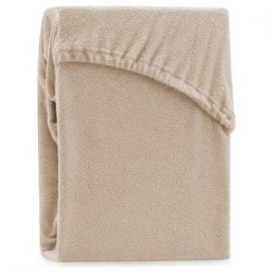 Cearsaf elastic pentru pat dublu AmeliaHome Ruby Dark Beige, 180-200 x 200 cm, bej inchis