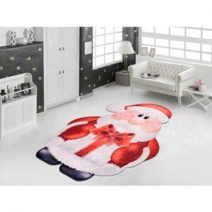 Covor Vitaus Santa, 80 x 150 cm, rosu-alb