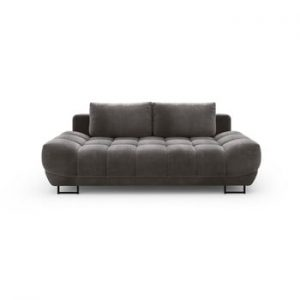 Canapea extensibila cu invelis de catifea cu 3 locuri Windsor & Co Sofas Cirrus, maro inchis