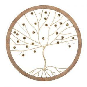 Decoratiune din lemn pentru perete Mauro Ferretti Alberto, ø80cm