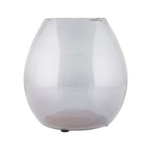 Vaza din sticla BePureHome Simple, ⌀ 20 cm, gri deschis