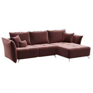 Canapea extensibila Hermes, sezlong convertibil, roz inchis