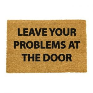 Covoras intrare din fibre de cocos Artsy Doormats No Problems, 40 x 60 cm