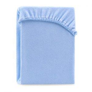 Cearsaf elastic pentru pat dublu AmeliaHome Ruby Light Blue, 180-200 x 200 cm, albastru deschis