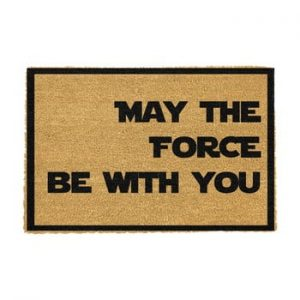 Covoras intrare din fibre de cocos Artsy Doormats May The Force Be With You, 40 x 60 cm