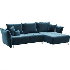 Canapea extensibila Hermes, sezlon convertibil, albastru inchis