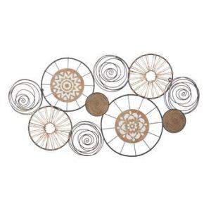 Decoratiune metalica pentru perete Mauro Ferretti Masai, 92x47cm