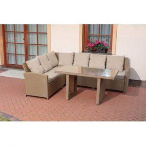 Set mobilier de gradina Timpana Family Relax, maro cappucino