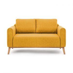 Canapea pentru 2 persoane Vivonita Milton, galben mustar