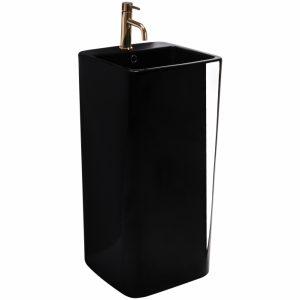 Lavoar freestanding negru Rune Mia