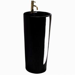 Lavoar freestanding negru Rune Blanka