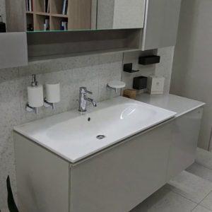 Lavoar pe mobilier Geberit Acanto 89 cm alb