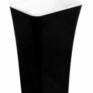 Lavoar pe pardoseala Besco Assos negru cu alb 50x40 cm