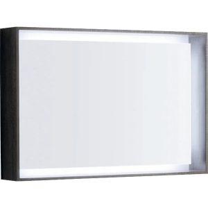 Oglinda cu iluminare LED Geberit Citterio maro gri 89 cm