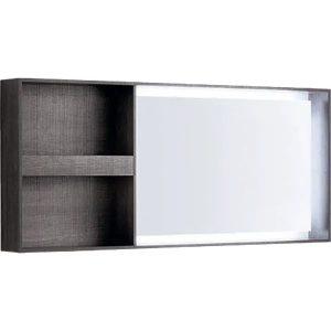 Oglinda cu iluminare LED Geberit Citterio maro gri 134 cm