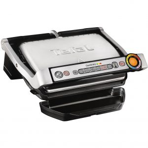 Gratar electric Tefal OptiGrill+ GC712D34, 2000 W, 6 programe automate, Program manual