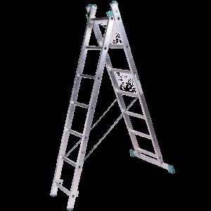 Scara aluminiu universala din doua tronsoane 2 x 7 trepte