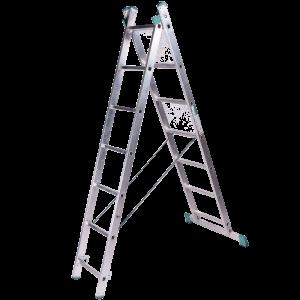 Scara aluminiu universala din doua tronsoane 2 x 11 trepte
