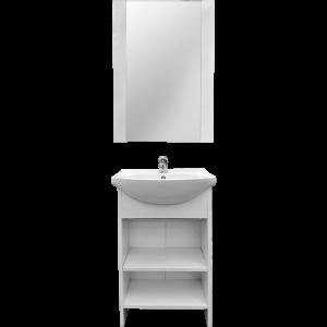 Set mobilier baie Badenmob Alfa 45, masca + lavoar + oglinda, alb