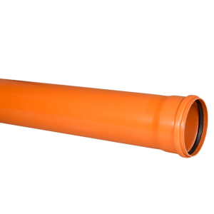 Conducta SN4 Valplast, PVC, portocaliu, diametru 160 mm, lungime 3 m