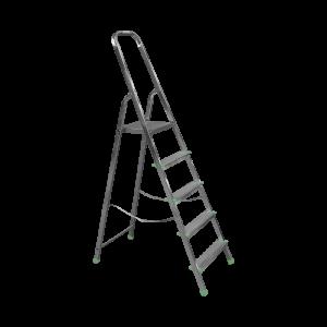 Scara aluminiu, 5 trepte cu urcare pe un tronson