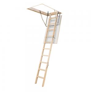Scara modulara termoizolata, retractabila, lemn, 70 x 120 x 280 cm