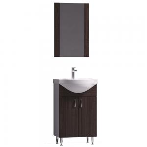 Set mobilier baie Badenmob Eco 51, masca + lavoar + oglinda, wenge