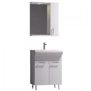 Set mobilier baie Badenmob Seria 004 - 60, masca + lavoar + oglinda, alb
