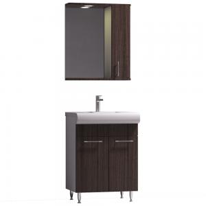Set mobilier baie Badenmob Seria 004, masca + lavoar + oglinda, wenge