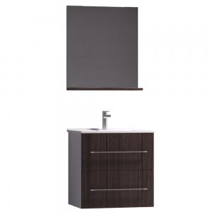 Set mobilier baie Badenmob Seria 054B-60, masca + lavoar + oglinda cu polita, wenge