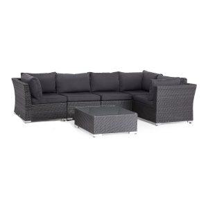 Set mobilier de gradina Le Bonom Malibu, negru